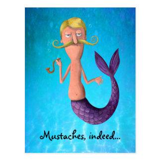 Merman Mustached rubio Postal