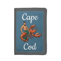 Merman Riding Lobster Wallets