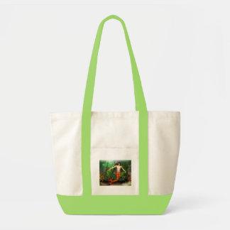 Merman Swimming Canvas Tote Bag