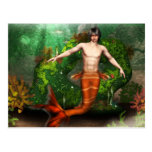 Merman Swimming Postcard