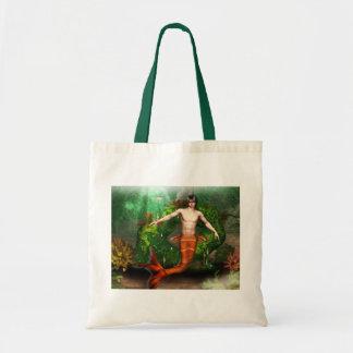 Merman Swimming Small Tote Bag