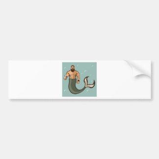 Merman Vector Bumper Sticker