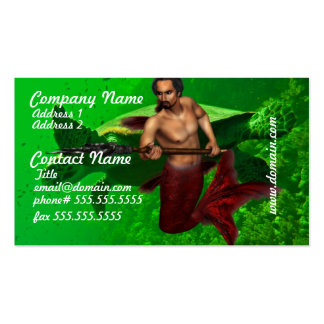 Merman with Giant Sea Turtle Business Cards