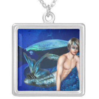 Merman with Sea Turtle Pendants