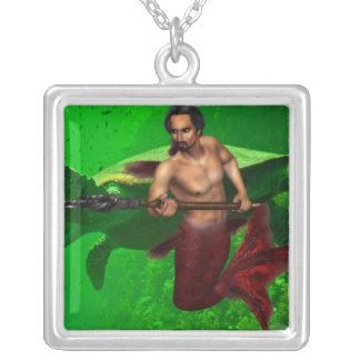 Merman with Sea Turtle Necklace