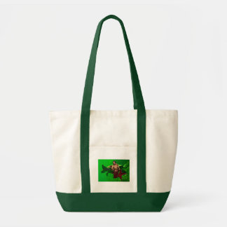 Merman with Sea Turtle Tote Bag