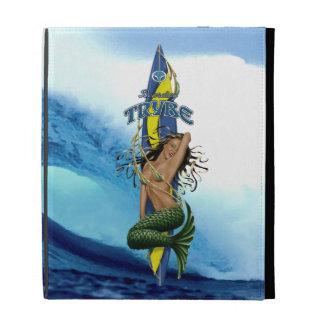 MerMarilyn Mermaid Surfboard Tropical Wave iPad Folio Cases