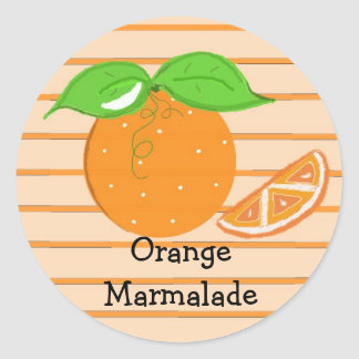 Mermelada anaranjada pegatina redonda