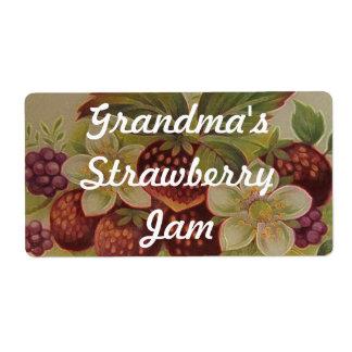 Mermelada de fresa etiquetas de envío