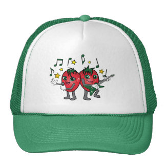 Mermelada de fresa gorras
