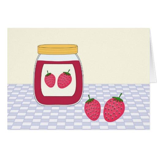 Mermelada de fresa hecha en casa felicitación