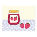 Mermelada de fresa hecha en casa postal