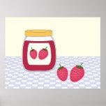 Mermelada de fresa hecha en casa posters