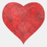 Mermelada de fresa roja con sabor a fruta pegatina de corazón personalizadas