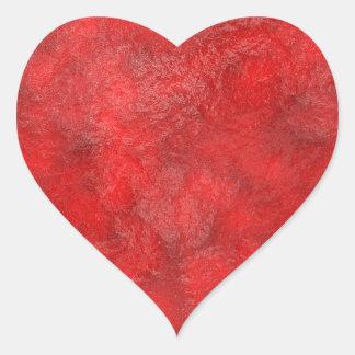Mermelada de fresa roja con sabor a fruta pegatina en forma de corazón