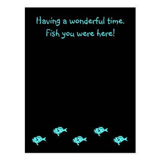 """Mero azul """"pescado de Glow_Aqua del océano usted Postales"""