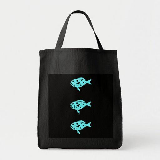 Mero triple azul de Glow_Aqua del océano Bolsa