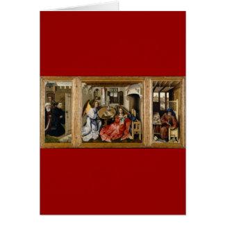 Merode Alterpiece by Robert Campin Greeting Card