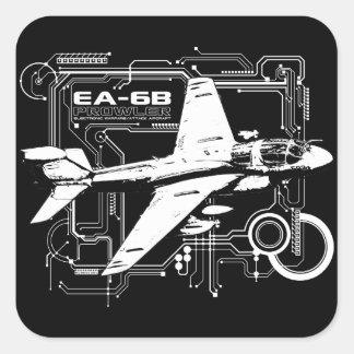 Merodeador de EA-6B Calcomania Cuadradas Personalizadas