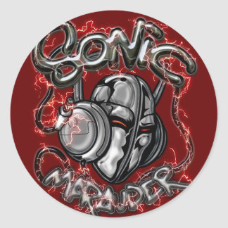 Merodeador de Sonic Etiqueta Redonda