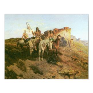 Merodeadores de la pradera, Seltzer, indios del Invitación 10,8 X 13,9 Cm