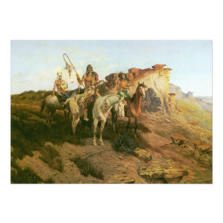 Merodeadores de la pradera Seltzer indios del vi