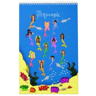 Merpeople imprime el libro calendarios de pared