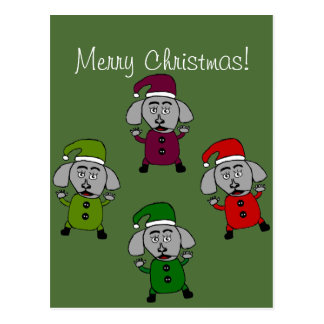 Merr Christmas Dogs greeting card