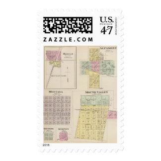 Merriam, Altamont, Montana, Mound Valley, Kansas Postage