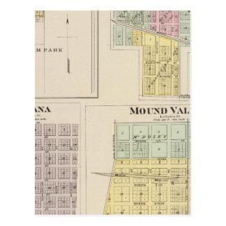 Merriam, Altamont, Montana, Mound Valley, Kansas Postcard