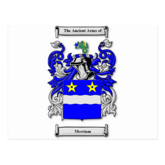 Merriam Coat of Arms Postcard
