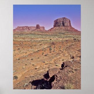 Merrick Bute Monument Valley Poster