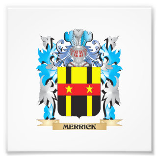 Merrick- Coat of Arms - Family Crest Art Photo