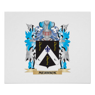 Merrick Coat of Arms - Family Crest Posters