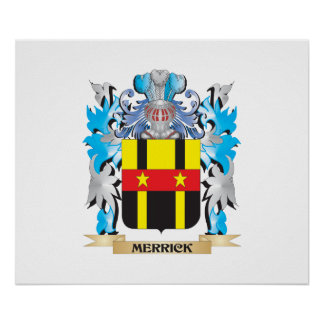 Merrick- Coat of Arms - Family Crest Posters