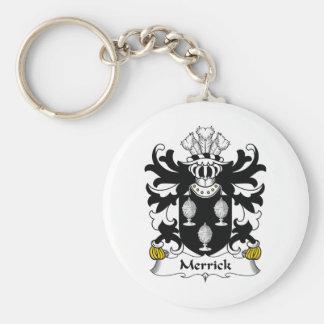 Merrick Family Crest Basic Round Button Keychain
