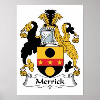 Merrick Family Crest Poster