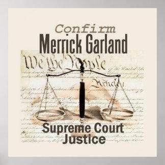 Merrick Garland Supreme Court POSTER Print