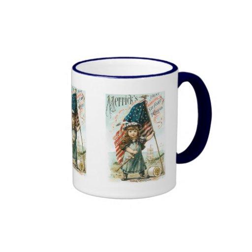Merricks Thread Girl with USA Flag Mug