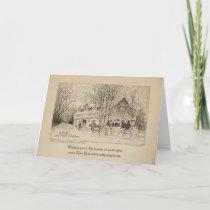 MERRIE CHRISTMAS 5x7 Greeting Card