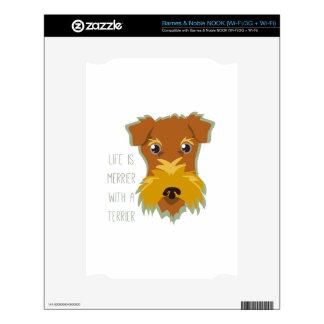 Merrier Terrier Skins For NOOK