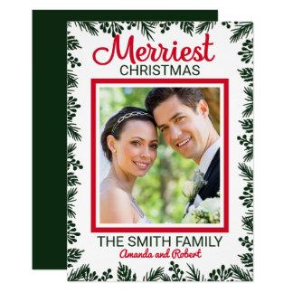 Merriest Christmas Holidays Editable Photo Cardx Card