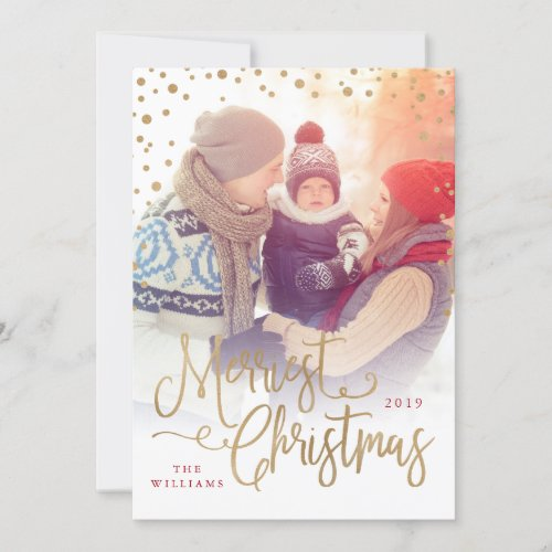 Merriest Christmas Photo Card