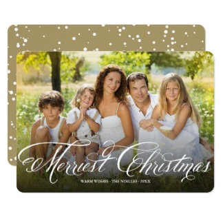 Merriest Christmas Script Chic Holiday Photo Card
