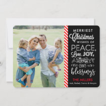 Merriest Christmas Wishes Holiday Card
