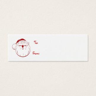 merriest holiday retro santa gift tag