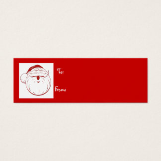 merriest holiday retro santa gift tag - Customized