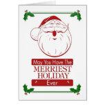 merriest holiday retro santa greeting cards