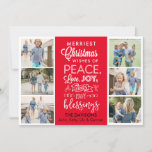 Merriest Wishes Christmas Collage - Editable Color Holiday Card