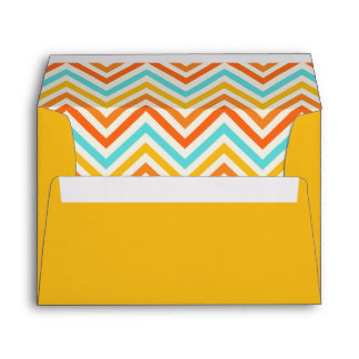 Merrigold yellow envelope with chevron pattern